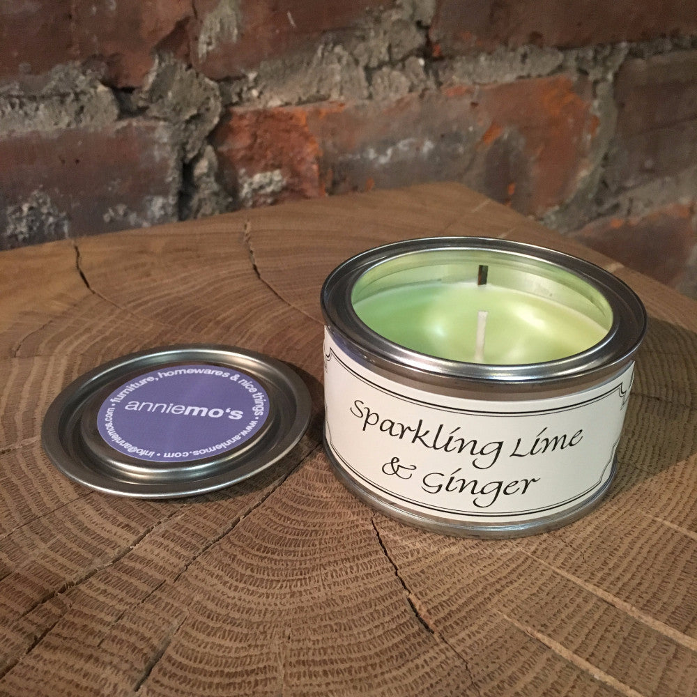 Sparkling Lime and Ginger Annie Mo's Tinned Candle