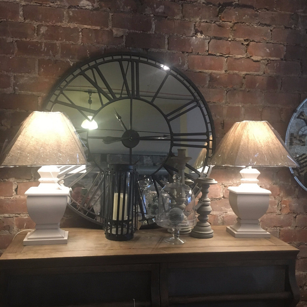 Table Lamp Lotte French Grey with Shade - Room Shot | Annie Mo's