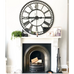 Iron Mirrored Wall Clock 106cm Room View