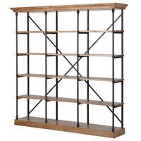 Iron and Oak Shelving Unit | Annie Mo's