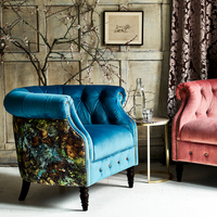 Jude Armchair | Fabric + Patterned Back | Annie Mo's