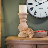 Large Rustic Clay Candleholder 43cm | Annie Mo's