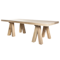 YASK Mighty Mac Cross Legs BIG Dining Table | Annie Mo's