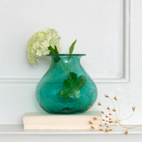 Vase Recycled Glass Teal 11cm | Annie Mo's