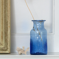 Vase Recycled Glass Lapis Blue 13cm | Annie Mo's