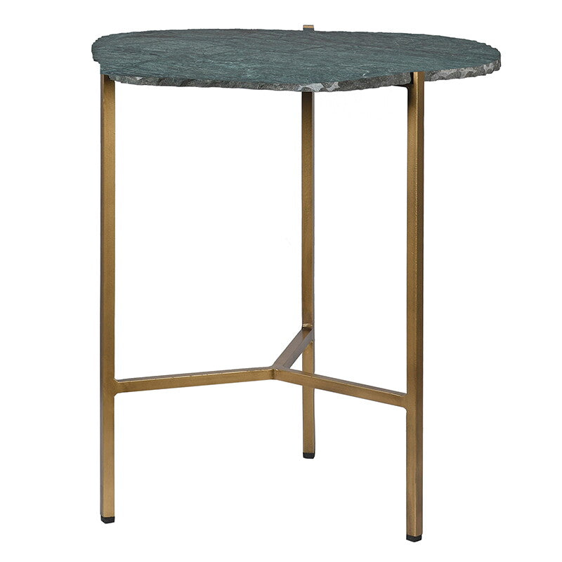 Occasional Side Table with Natural Green Stone Top | Annie Mo's