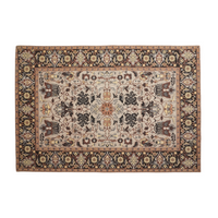 Multi Coloured Jacquard Woven Rectangular Rug 290cm | Annie Mo's