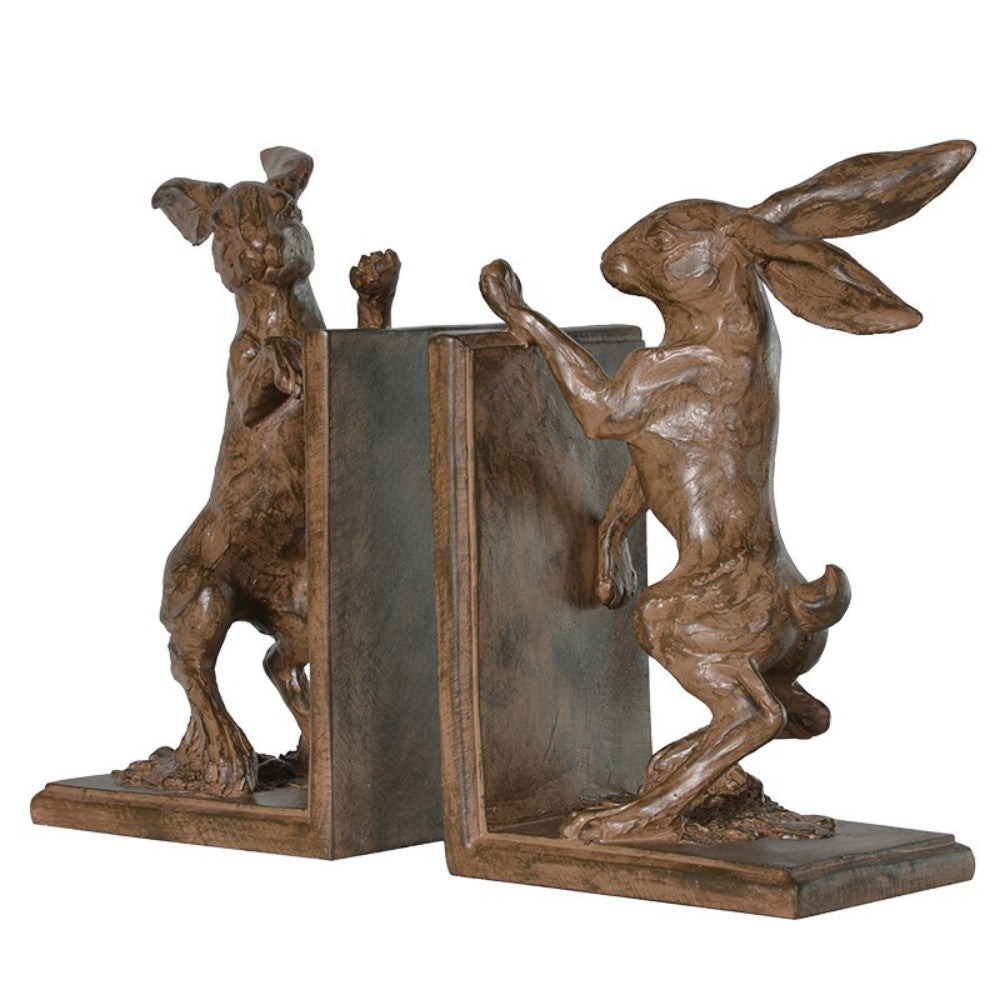 H: 230mm W: 135mm D: 100mm | Boxing Hare Bookends