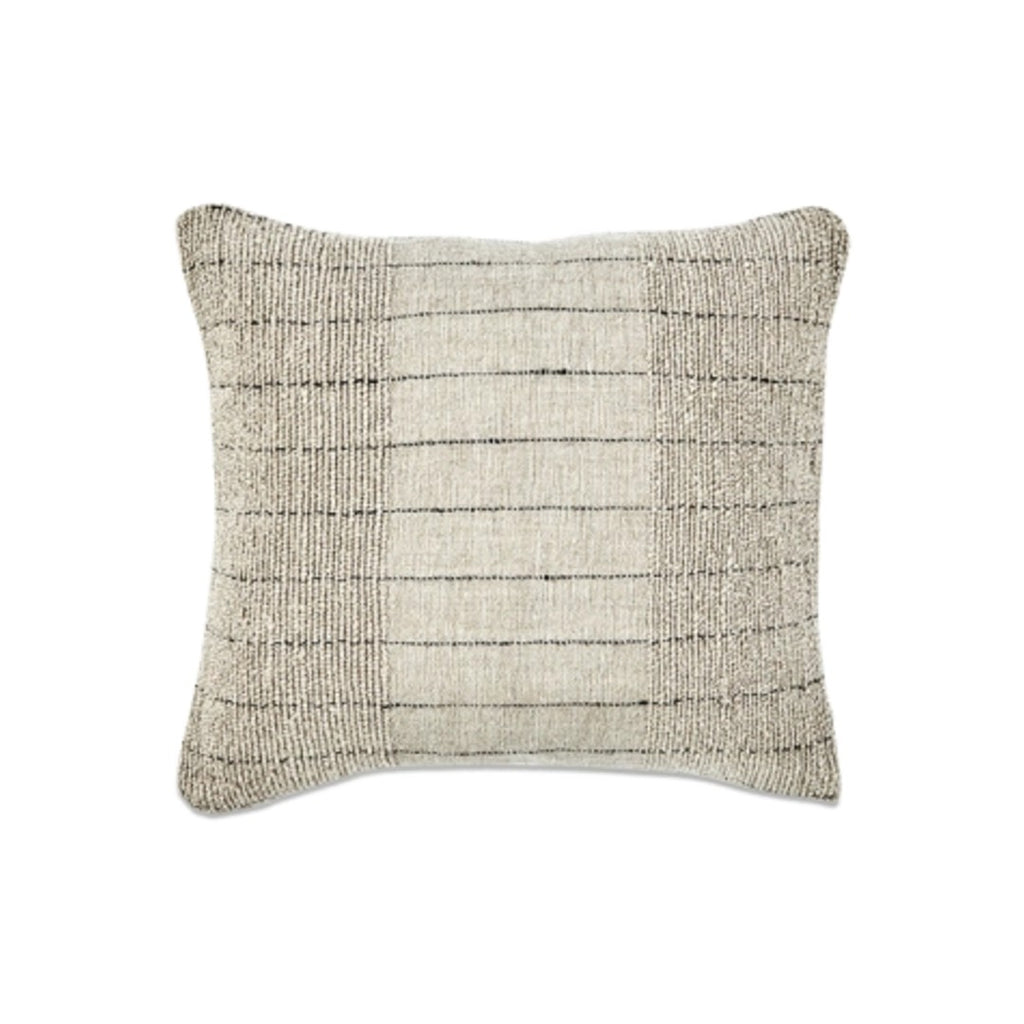 Neutral Linen Cushion with Black Stripe 50cm x 50cm