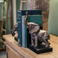 Pair of Resin Elephant Bookends | Annie Mo's