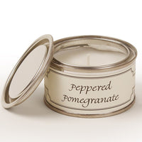 Peppered Pomegranate Annie Mo's Tinned Candle | Annie Mo's