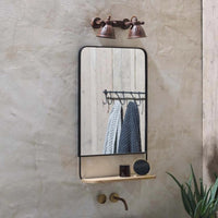 Portrait Wall Mirror with Wood Shelf 72cm | Annie Mo's Room Shot