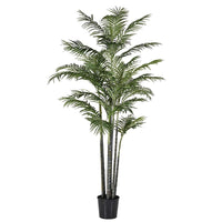 Huge Faux Green Bamboo Palm Tree in Black Plastic Pot | Annie Mo's