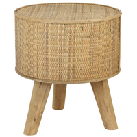 Rattan Effect Side Table 39cm | Annie Mo's