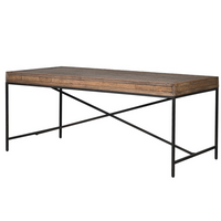 Reclaimed Oak Rectangular Dining Table | Annie Mo's