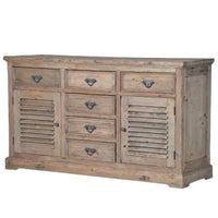 Reclaimed Pine Louvred Sideboard