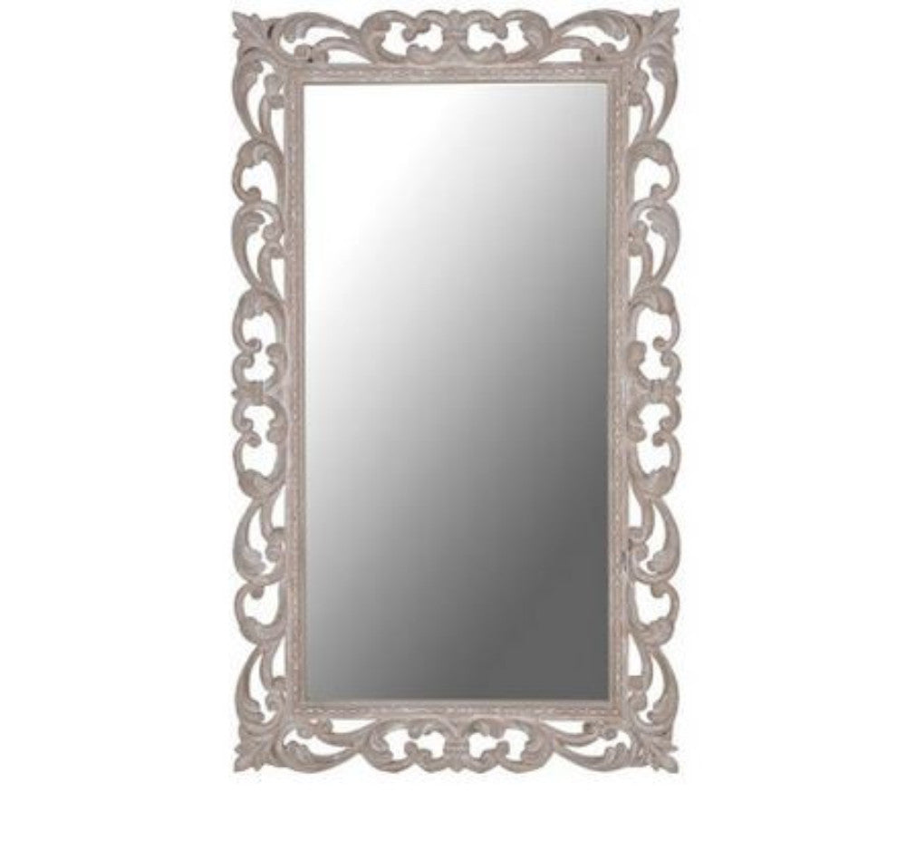 Ornate Rectangular Mirror 145cm | Annie Mo's