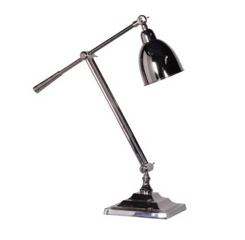 Nickel Angled Desk Lamp