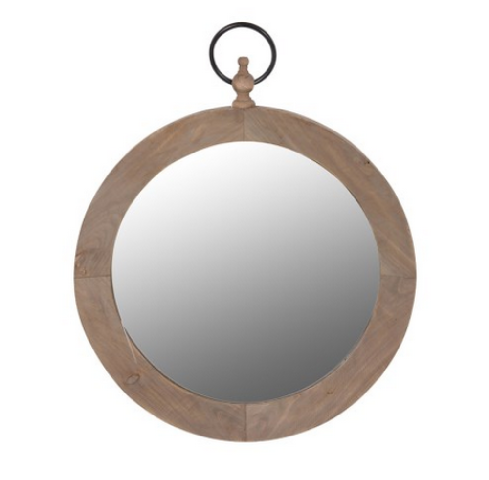 Round Mirror With Ring