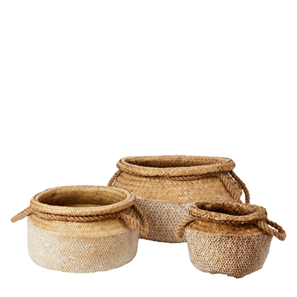 Set of Three Round Seagrass Baskets | Annie Mo's