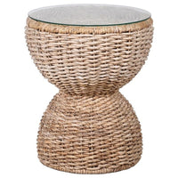 Shapely Wicker Side Table 62cm | Annie Mo's