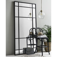 Black Iron Floor Standing Mirror - Room Shot | Annie Mo's