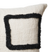 Square Off White and Black Cushion Style Two 50cm x 50cm