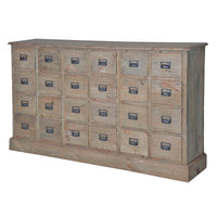 Empire Reclaimed Pine 24 Drawer Chest of Drawers | Annie Mo's