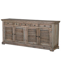 Large Reclaimed Pine Louvred Sideboard | Annie Mo's