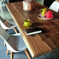 Toronto Walnut Table with Glass Legs | Annie Mo's