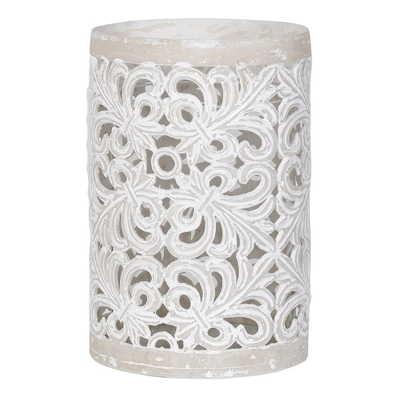 Large 'Lace' Ceramic Hurricane | Annie Mo's