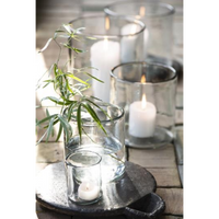 Mouth Blown Thick Glass Hurricane Lamps | Annie Mo's