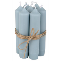 Short Light Blue Dinner Candle 11cm | Annie Mo's