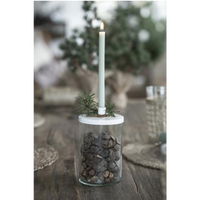 Dusty Green Taper Candle 20cm | Annie Mo's