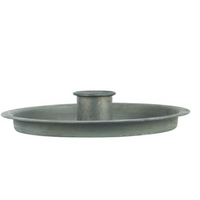 Candle Holder for Dinner Candles - Grey Metal | Annie Mo's