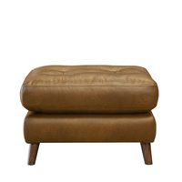 Newmarket Footstool | Leather | Annie Mo's