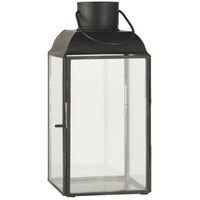 Rounded Roof Classic Black Metal Lantern 22cm | Annie Mo's