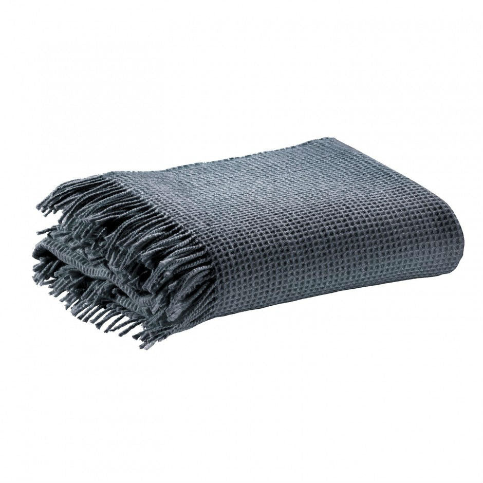 Merino Wool Honeycomb Fringed Throws 140cm x 200cm - Tonnerre | Annie Mo's