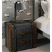 Two Drawer Grey Fabric Trunk