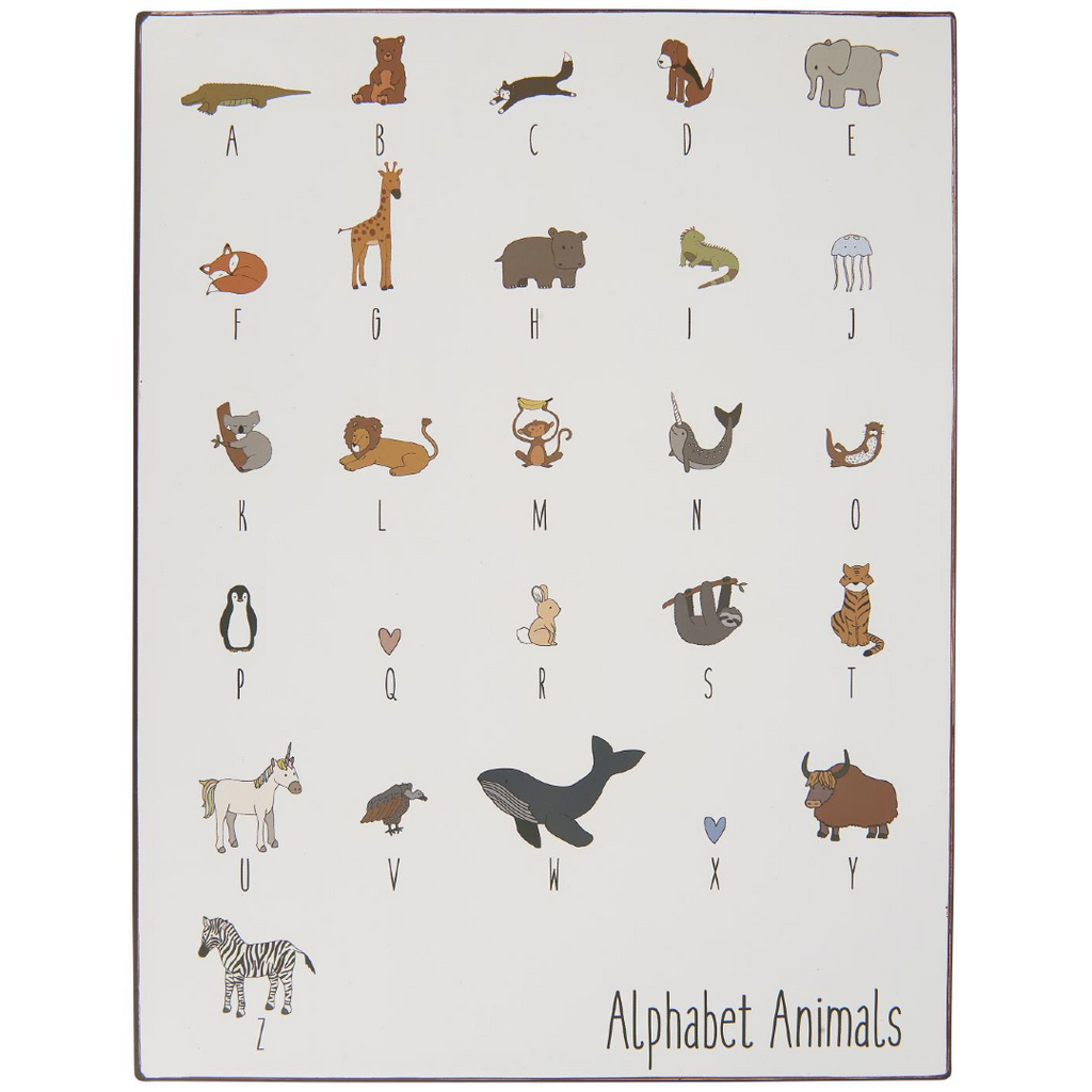 Metal Sign - Animal Alphabet 39cm | Annie Mo's