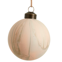 Artful Pink Glass Bauble - 8cm | Annie Mo's