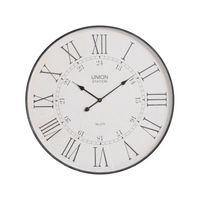 Antiqued Grey Wall Clock 80cm | Annie Mo's