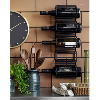 Black Iron Five Bottle Wine Rack | Annie Mo's