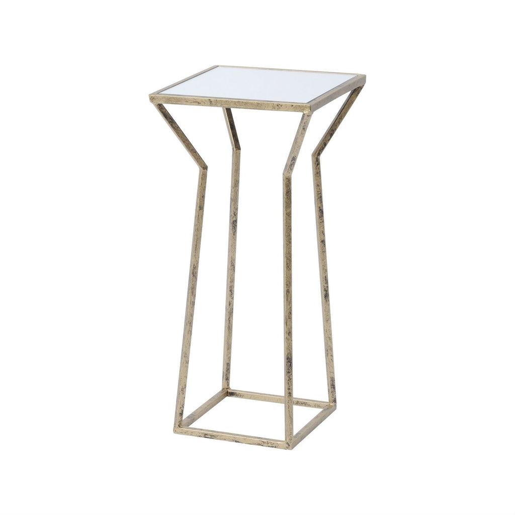 Small Square Side Table with Mirrored Top | Annie Mo's