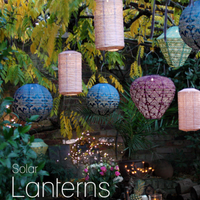 Solar Powered Lanterns - Choice of Style and Colours | Annie Mo's
