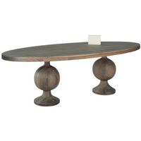 Iron Lady Oval Dining Table 96cm Wide | Annie Mo's