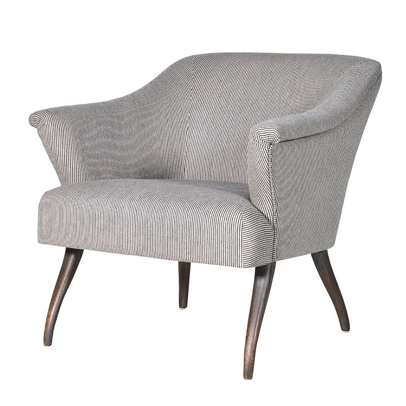 Beige Pinstripe Easy Chair | Annie Mo's