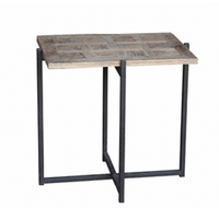 Reclaimed Oak Occasional Side Table 60cm | Annie Mo's