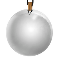 Elegant Stainless Steel Bauble with Suede String - 8cm