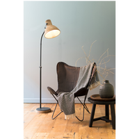 Wood and Metal Adjustable Floor Lamp 129cm | Annie Mo's